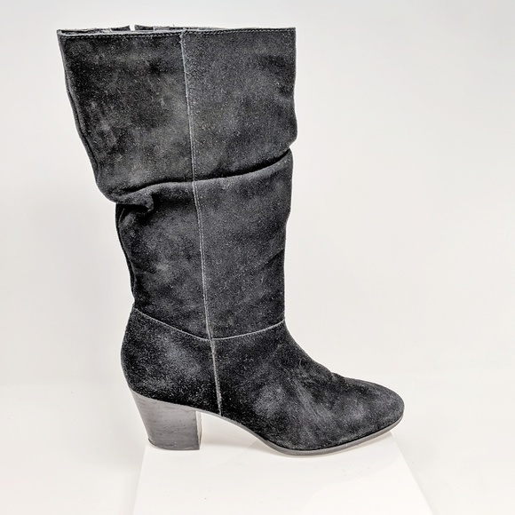 fc17df502c7e Crown Vintage Shoes - CROWN VINTAGE black suede slouchy boot low heel